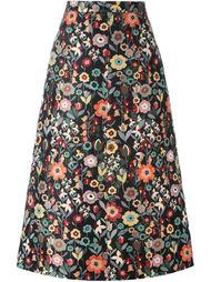 юбка с цветочным принтом   Red Valentino