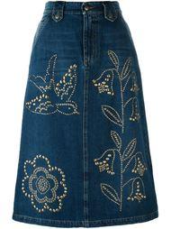 джинсовая юбка  Red Valentino