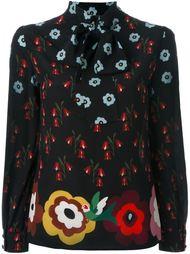 блузка с цветочным принтом   Red Valentino