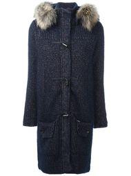 вязаное пальто с капюшоном Bark