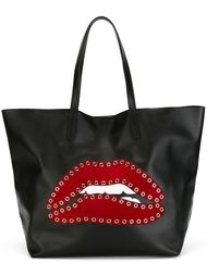 сумка-тоут с аппликацией губ Red Valentino