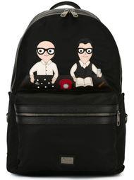 рюкзак с нашивками 'Vulcano'  Dolce & Gabbana