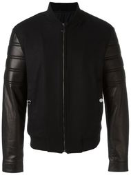 куртка-бомбер с контрастными рукавами Versace Collection