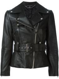 расклешенная байкерская куртка Alexander McQueen