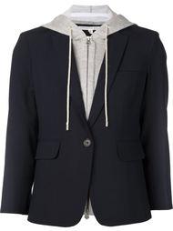 пиджак с трикотажной вставкой Veronica Beard