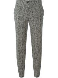 брюки с мелким зебровым принтом Etro