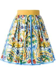 юбка с принтом  Dolce & Gabbana