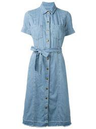 джинсовое платье с поясом Current/Elliott