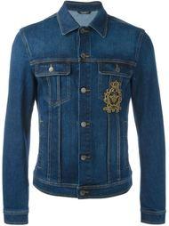 джинсовая куртка с нашивкой эмблемы Dolce & Gabbana