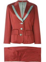 классический костюм с контрастной окантовкой  Kenzo Vintage