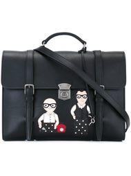 сумка-почтальонка с изображением дизайнеров Dolce & Gabbana