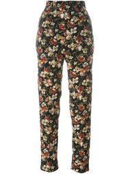 брюки с цветочным принтом 1991 Jean Paul Gaultier Vintage