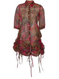 платье-рубашка с принтом Jean Paul Gaultier Vintage