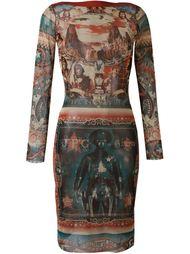 прозрачное платье с принтом Jean Paul Gaultier Vintage
