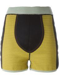шорты в стиле колор-блок  Jean Paul Gaultier Vintage