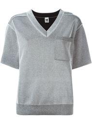 трикотажная футболка с V-образным вырезом M Missoni