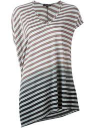 полосатая асимметричная футболка Unconditional