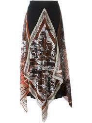 юбка с принтом асимметричного кроя  Jean Paul Gaultier Vintage