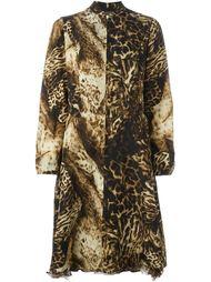 платье с леопардовым принтом  Kenzo Vintage