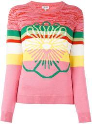 полосатый свитер с цветочным принтом Kenzo