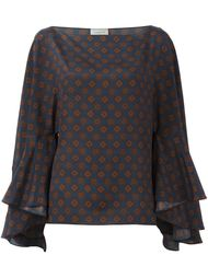 блузка с широкими рукавами Lanvin