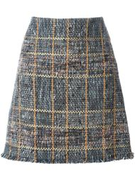 твидовая юбка с необработанными краями Etro