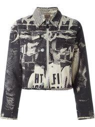 джинсовая куртка с принтом Jean Paul Gaultier Vintage