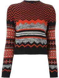 свитер с геометрическим узором  Kenzo Vintage