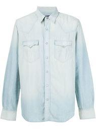 выбеленная джинсовая рубашка  Rrl