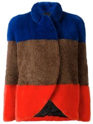 меховая куртка дизайна колор-блок Blancha