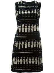 платье с принтом Moschino Vintage