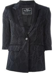 пиджак с эффектом змеиной кожи  Unconditional