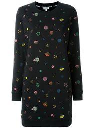 платье-толстовка с вышивкой  Kenzo