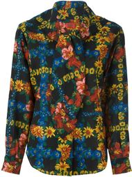 блузка с цветочным принтом  Kenzo Vintage