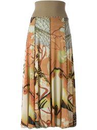 длинная юбка с принтом Jean Paul Gaultier Vintage