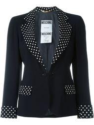 пиджак с деталями в горох Moschino Vintage