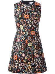 платье А-силуэта с цветочной вышивкой Red Valentino