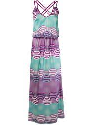 длинное платье без рукавов Brigitte