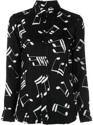 рубашка с белыми нотами Saint Laurent