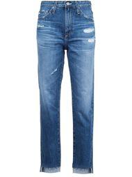 укороченные джинсы с потертой отделкой Ag Jeans