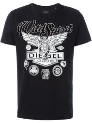 футболка с принтом тигра Diesel