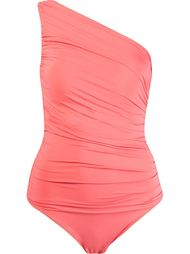 one shoulder draped swimsuit Brigitte