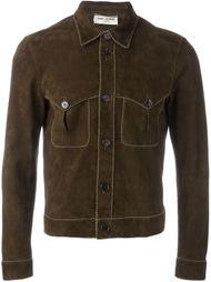 куртка с контрастной окантовкой  Saint Laurent