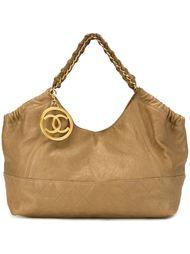 сумка-тоут с логотипом  Chanel Vintage
