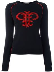 джемпер с логотипом-интарсией  Emilio Pucci