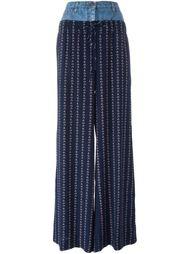 широкие брюки с джинсовым поясом Chanel Vintage