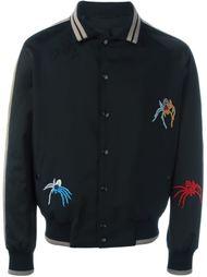 университетская куртка с вышивкой пауков Lanvin