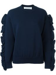 свитер с оборками на рукавах Victoria Victoria Beckham