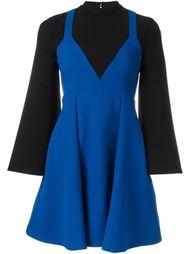 комбинированное платье Victoria Victoria Beckham