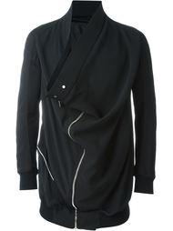 удлиненная байкерская куртка с драпированными деталями  Rick Owens